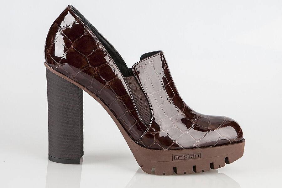 Autentica Baldini Leather  Italian Designer scarpe New Collection Marronee  negozio di vendita outlet