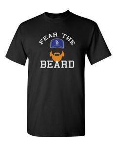 Fear The Beard Justin Turner La Dodgers Mens Gildan T-Shirt Brand ... 624774279cf