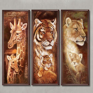 Cross-stitch Picture Color New 5d Diamond Painting Realistic Animal Series Tiger Stick Drill Cross Stitch Decorative Painting Full Drill