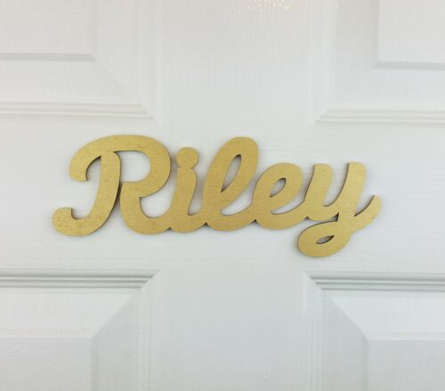 Personalised Wooden Name Plaque for bedroom doors or Toy Boxes #09