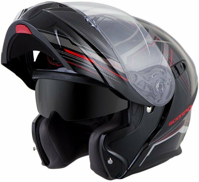 Scorpion EXO-GT920 Satellite Modular Helmet Red Free Size Exchanges
