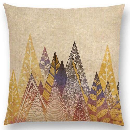 """Cojines couleur forêt montagne Taille jeter housses de coussin en lin taie d/'oreiller 18/"""""""