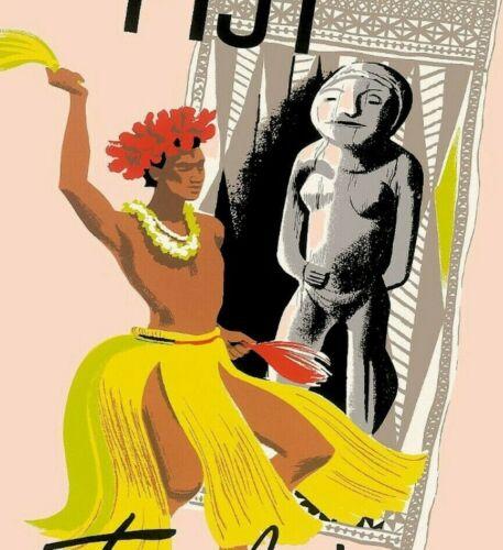Fiji Tahiti Pan Am Airlines Vintage Poster Print Retro Travel South Pacific