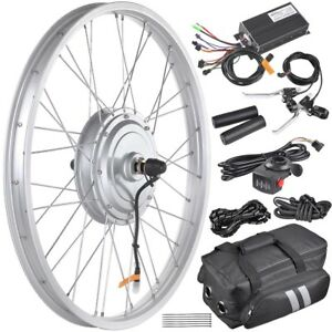 36V-750W-Front-Wheel-Tire-Electric-Bicycle-eBike-Conversion-Kit-24-034-Width-Rim