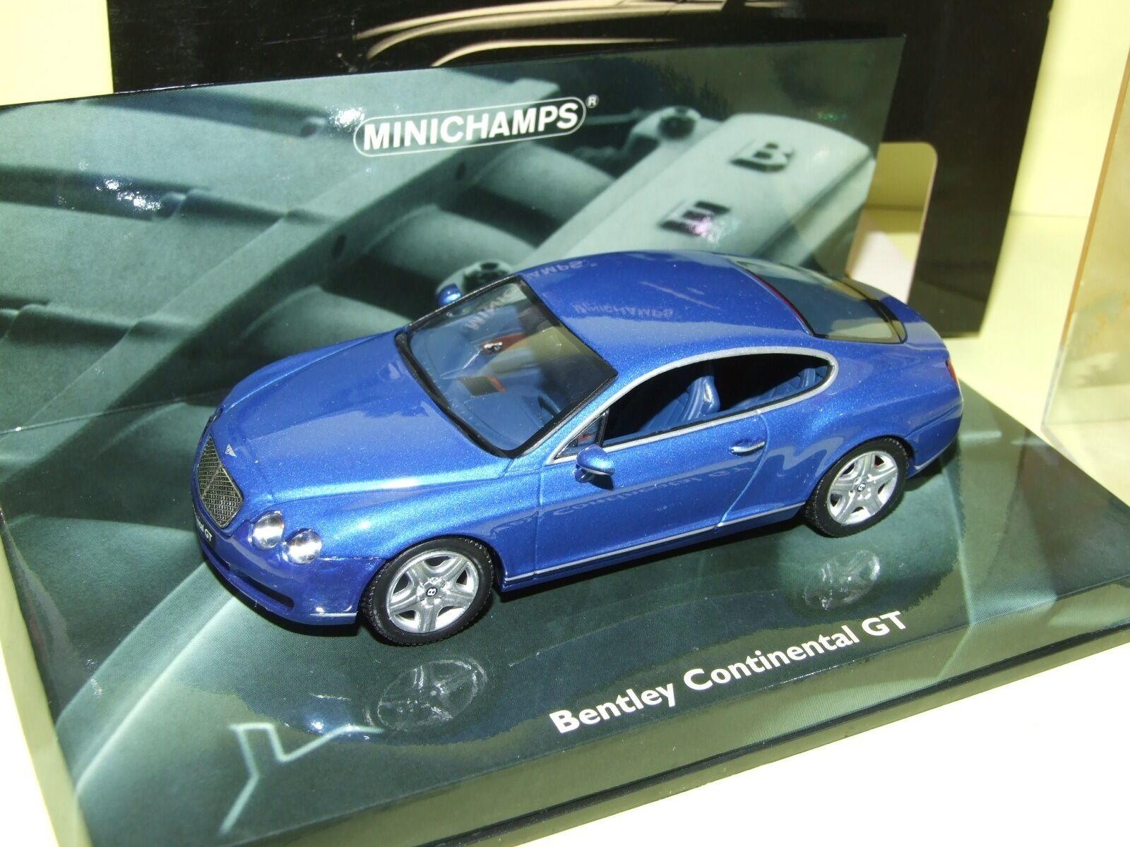 Blau bentley continental gt minichamps 1 43
