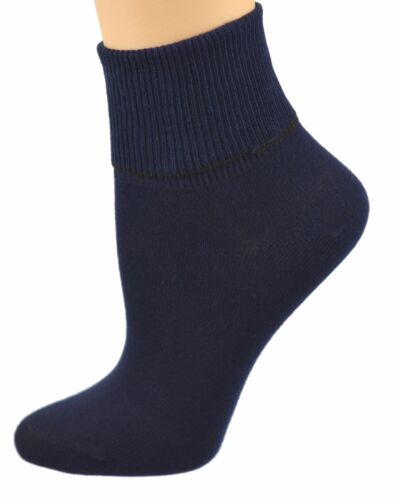 Sierra Socks Women/'s Diabetic 100/% Cotton Ankle Turn Cuff 3 Pair Pack W16421