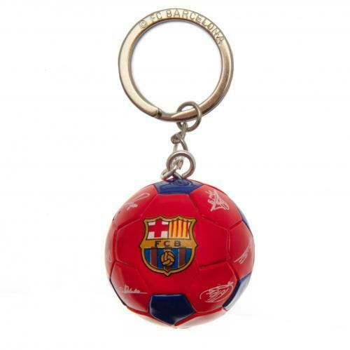 FC Barcelona Football Keyring Key Ring Printed Signed Signatures