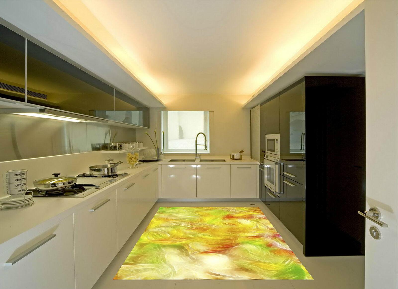 3D Shiny Leaves 5 Kitchen Mat Floor Murals Wall Print Wall Deco AJ WALLPAPER CA