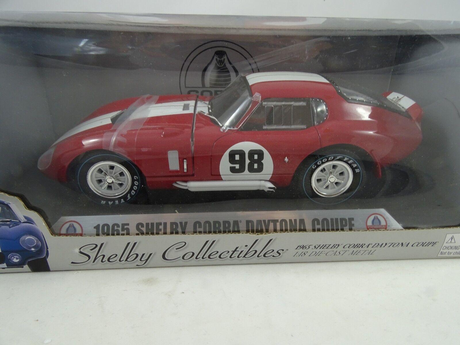 1 18 Shelby Collectibles  DC28902 - 1965 Shelby Cobra Daytona Coupe  98 Red RAR §