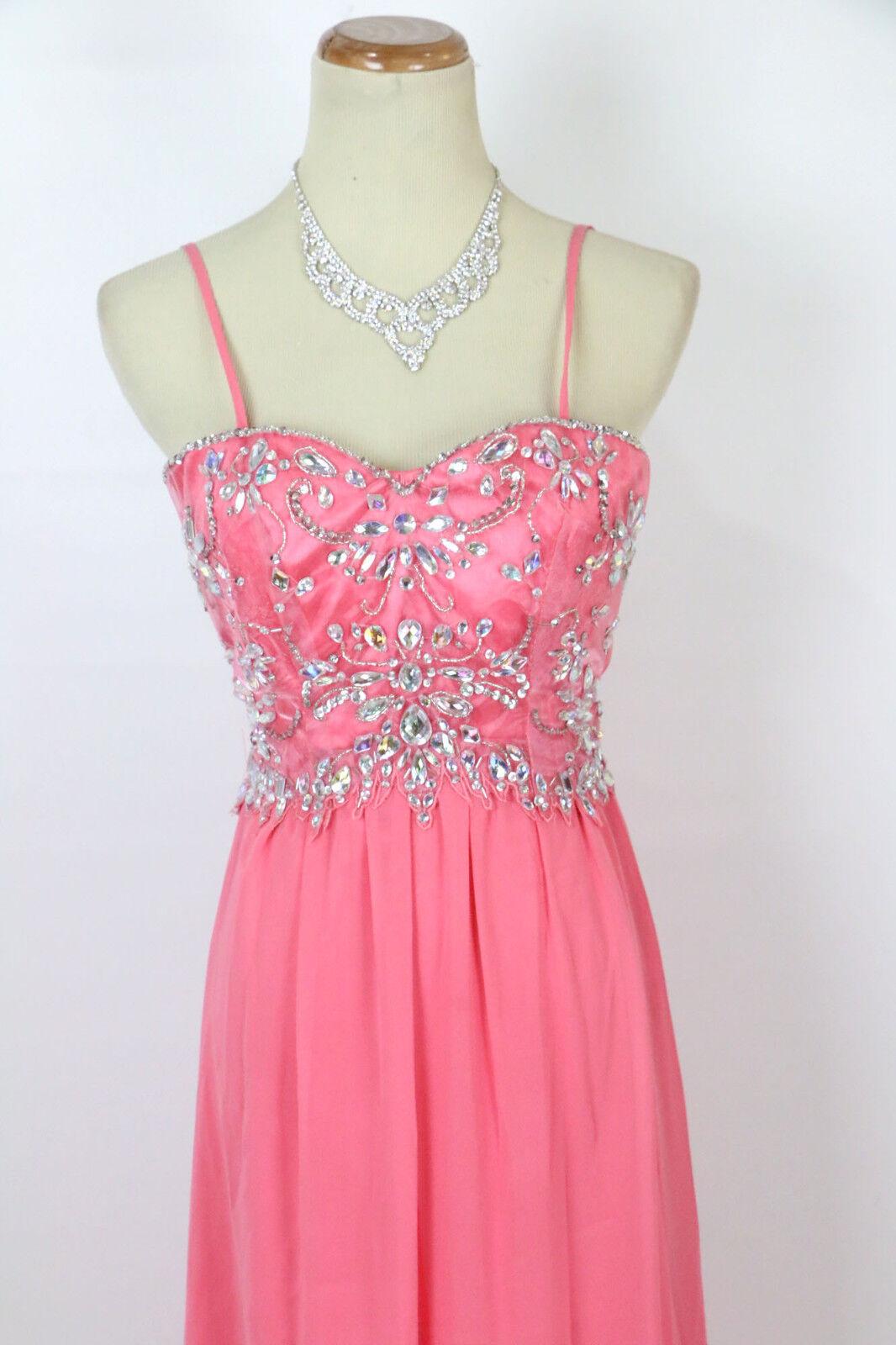 NEW Windsor USA Grand Coral  Spaghetti strap Juniors Formal Dress Größe 1