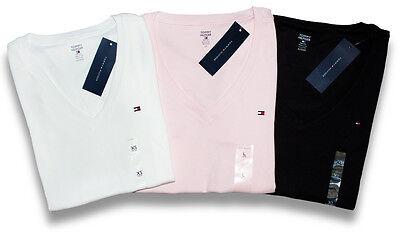 Tommy Hilfiger Damen V - Neck Shirt T-Shirt  Damenshirt  3 Farben - Size XS-XXL