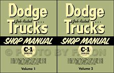 1954 1955 Dodge C1 Truck Repair Shop Manual Set Pickup Panel Power Wagon C 1