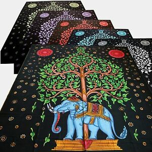 Couvre-Lit-Tissu-Deco-Coton-Couverture-Tapisserie-Decoration-Murale-210x240cm