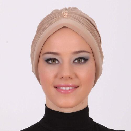 NEW Fancy Bonnet Cancer Chemo Hijab Turban Cap Beanie many Color Bead US Seller