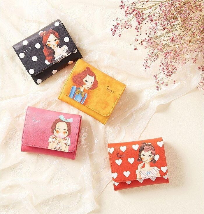 [FASCY] TINA Half Mini Wallet 112 x 90 x 35 mm (4 Type Pink Black Orange Yellow)