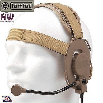 Airsoft tomtac Bowman Evo III 3 Micro casque boom TAN sable de casque radio UK