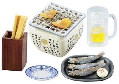 Re-Ment Miniature Japanese Pub Bar Snacks Wine Beer Set # 4 Grilled fish