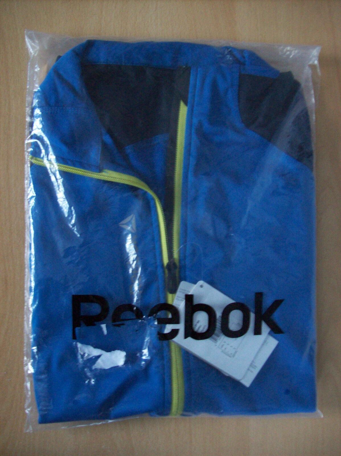 Reebok  Herren Delta 1/2 Zip Mix Sweatshirt Navy Impact Blau Small New Sealed +Tags