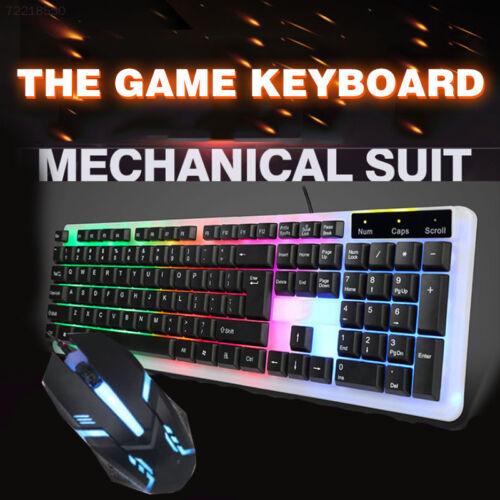 0DA7 Luminous 104 Key Colorful USB Keypad Computer Gaming Touch Keyboard