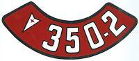 Pontiac 350-2v Air Cleaner Decal