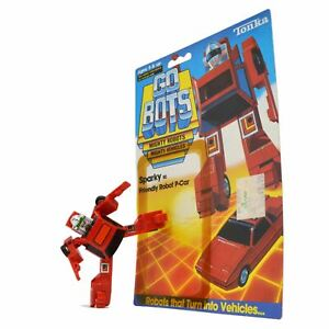 Vintage-TONKA-GOBOTS-034-SPARKY-034-50-Friendly-ROBOT-P-CAR-Red-w-ORIGINAL-CARD-BACK