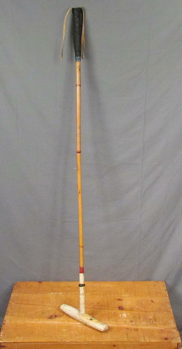Vintage International Antique Polo Mallet Pakistan Bamboo Display Shaft 51 Great Display Bamboo eb234e