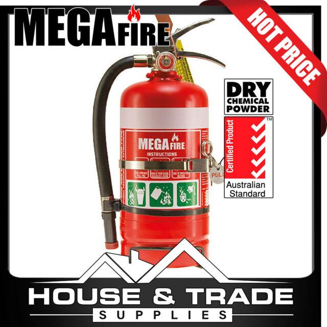 MegaFire Fire Extinguisher Portable 2.5kg DRY CHEMICAL POWDER MF25ABE