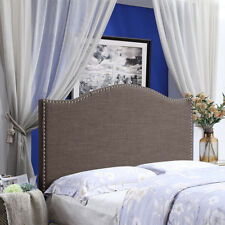 Smook HOME BI Upholstered Tufted Button Linen Fabric Headboard Full//Queen Size