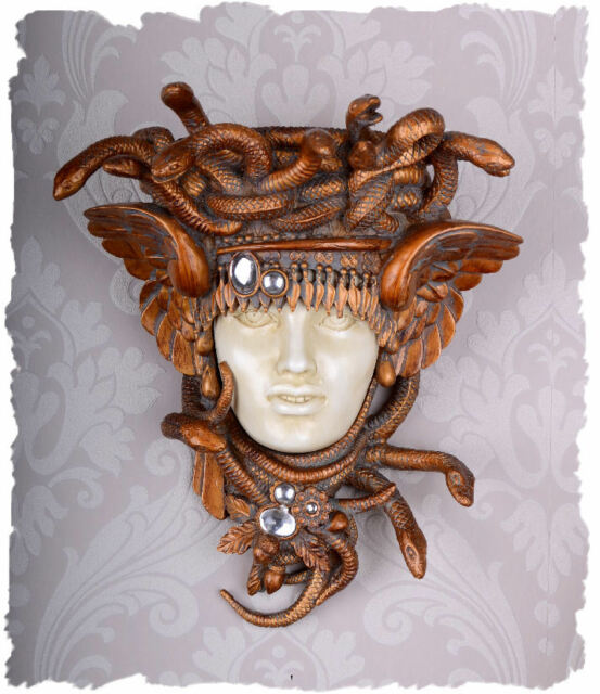 Vintage Console Medusa Head Antiquity Wall Bracket Art Nouveau Sculpture Shelf