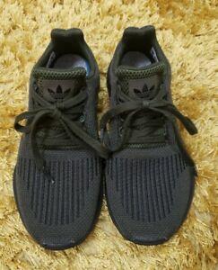 Black Adidas Swift run knit trainers