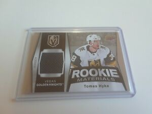 2018-19-Upper-Deck-Tomas-Hyka-Jersey-Rookie-Materials-RM-TH-Rc-Golden-Knigths