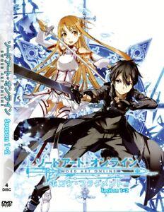 DVD - Sword Art Online Season 1 & 2 (Episode 1-49) - English Version
