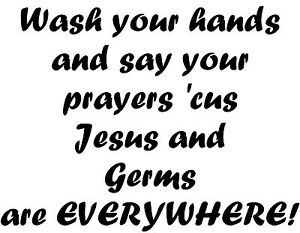 Fabulous Details About Wash Your Hand Jesus Germs Bathroom Mirror Kitchen Sink Wall Decal Rules Pray Complete Home Design Collection Papxelindsey Bellcom