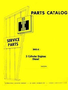 details about international farmall 454 464 240 d-179 3 cylinder diesel engine  parts manual ih
