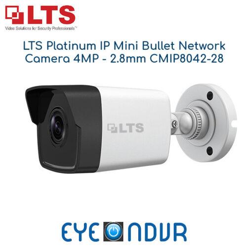 CMIP8042-28 LTS Platinum IP Network H.265 PoE Bullet Camera 4MP 2.8mm IR 100ft