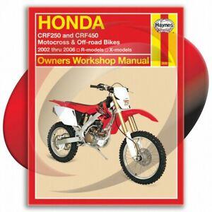 2006 2007 2008 honda crf450x crf 450x motorcycle shop service.