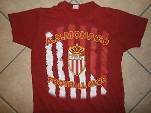Asm-FC-Monaco-Futbol-Camiseta-Francia-Futbol-Youth-XL
