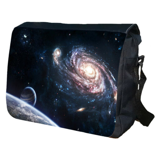 Space Milky Way Moon Planets School College Personalised Shoulder Messenger Bag