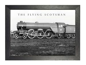 The Flying Scotsman Railway Vintage Retro Oldschool Old Good Price Poster