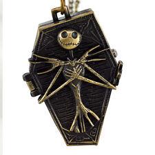 Vintage Retro Skull Cosplay Watch Chain Necklace Quartz Pocket Watch Unisex W19