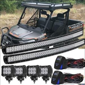 Details About 54 Curved Led Light Bar Combo 4x18w Pods Kawasaki Teryx Teryx4 Mule 1000 750