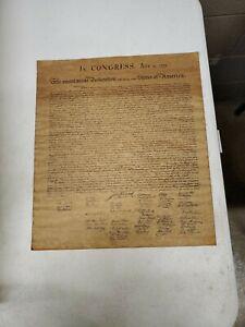 Vintage Distressed Copy Declaration Of Independance 14.5x13.75 (Ml) (Tube 4)
