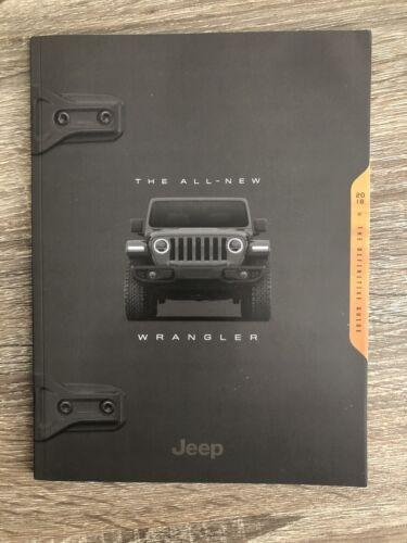 2018 JEEP WRANGLER JL 116-page Original Sales Brochure