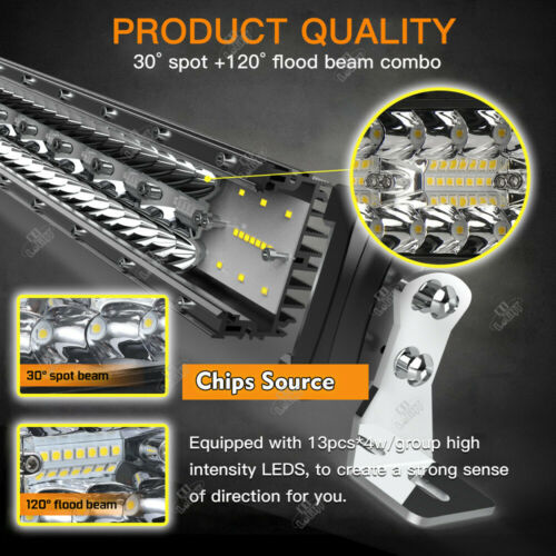 "22/"" Zoll LED Arbeitsscheinwerfer Auto Offroad SUV Light bar Lichtleisten 12V 24V"