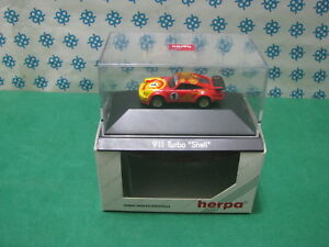 Vintage-PORSCHE-911-Turbo-034-Shell-034-H0-1-87-Herpa-Private-Collection
