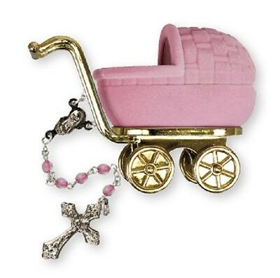 My First Rosary Christening Gift Baptism Rosary Beads Girl Pink Children/'s