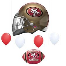 Item 2 San Francisco 49ers 6 Piece Balloon Bouquet Birthday Party Decorations Football