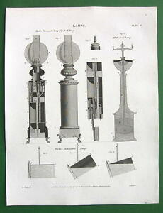 LAMPS-Hydro-Pneumatic-Automaton-1817-Antique-Print-by-A-Rees