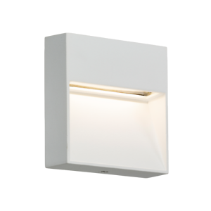 WHITE 230V IP44 2W 3500K INDOOR//OUTDOOR NON-DIMMABLE LED SQUARE WALL GUIDE LIGHT