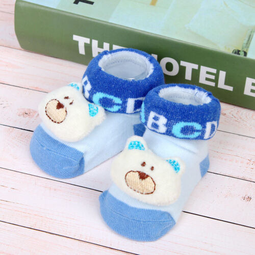 Newborn Baby Boy Girl Cartoon Eyes Floor Sock Anti-Slip Baby Step Shoes Sock UK